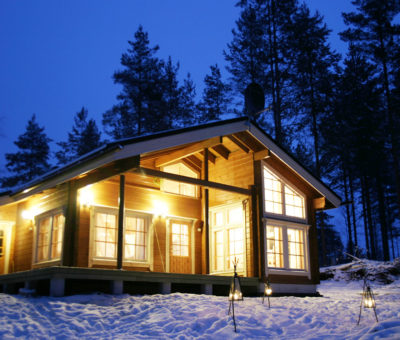 Škandinávske zrubové domy