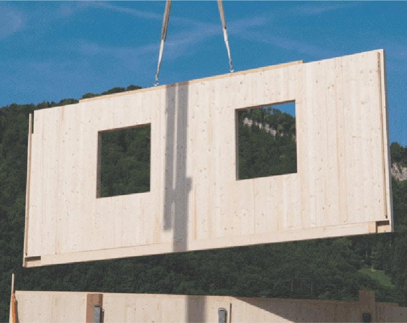 Švajčiarsky panelový systém drevostavieb, CLT panely