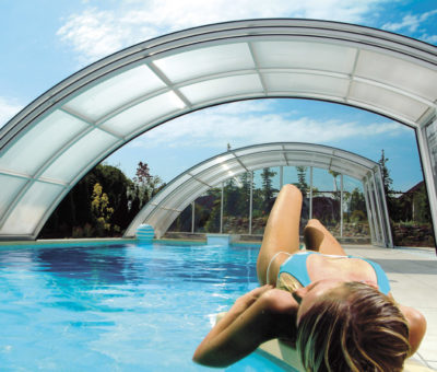 Elegantné prekrytia bazénov
