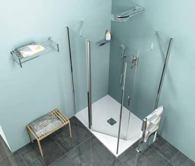 Rozkoš z letného dažďa v kúpeľni