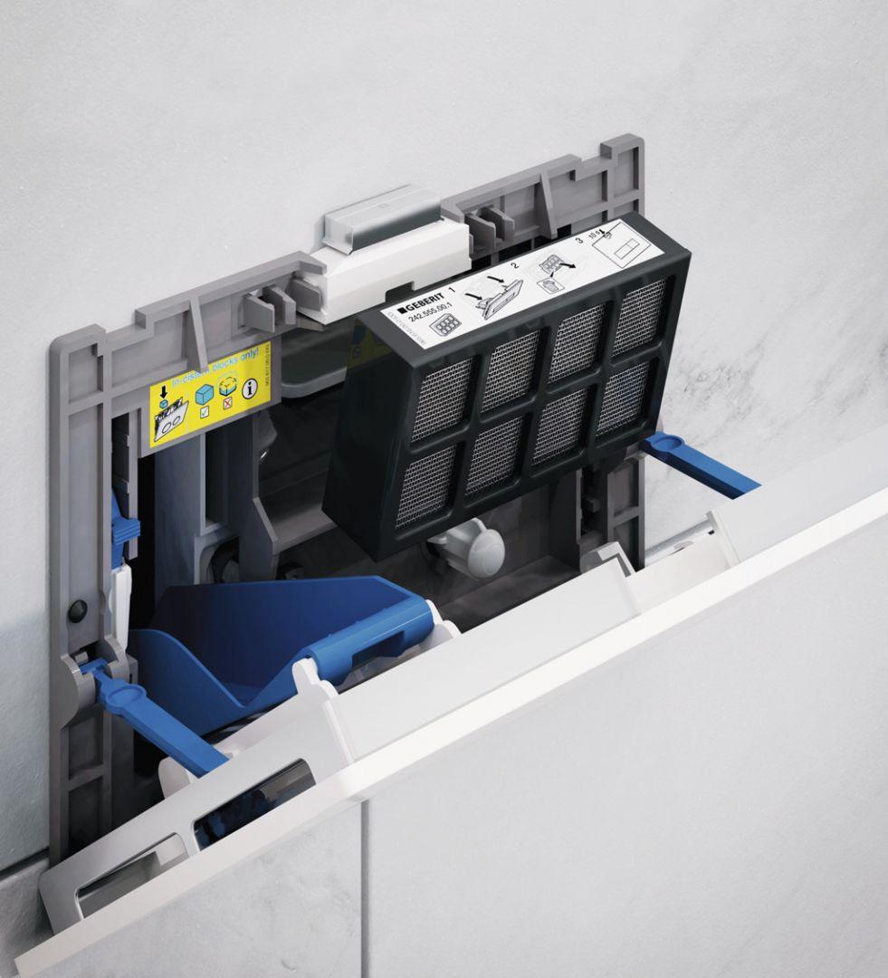 Geberit DuoFresh – systém odsávania pachov priamo z toaletnej misy, Sigma40