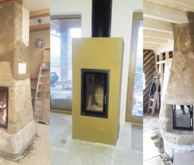 Hlinená pec v moderných domoch, hlina