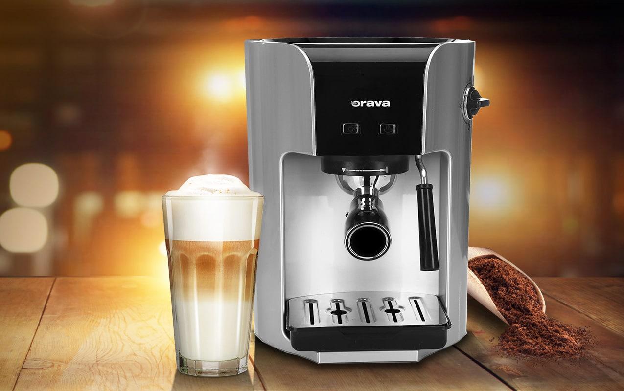 Domáca kaviareň – aký kávovar vám aj v pohodlí domova vyčaruje poctivé espreso, Orava ES250K