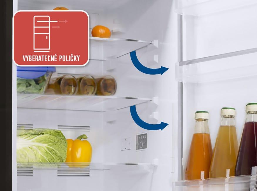 Podľa čoho vybrať chladničku a ako do nej ukladať potraviny,vyberatelné poličky. Orava