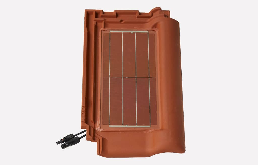 Redline nature red, Slnečná energia z obnovovaných striech, fotovoltaický systém, ktorý je integrovaný do škridiel