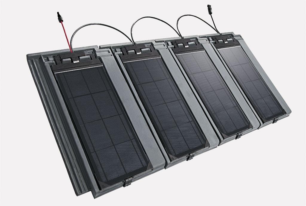 modul, Slnečná energia z obnovovaných striech, fotovoltaický systém, ktorý je integrovaný do škridiel