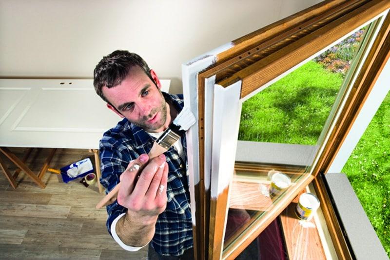 Vhodná ochrana dreva, Malovani oken