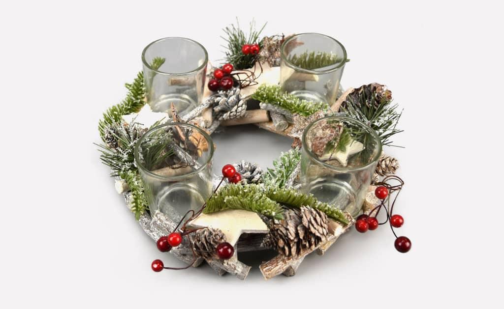 Ozdobte si domov vianočnými dekoráciami, Adventny-svietnik-s-bazou
