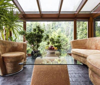 Vychutnajte si rannú kávičku aj v zime, ako Vďaka zimnej záhrade