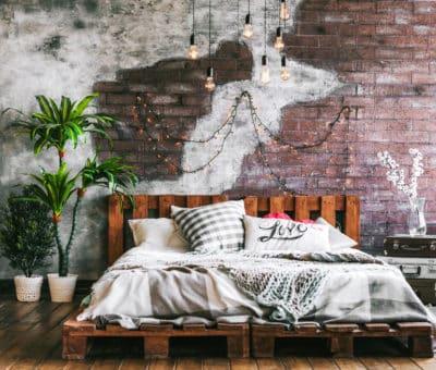 zostrojte si paletovú posteľ, paletová posteľ