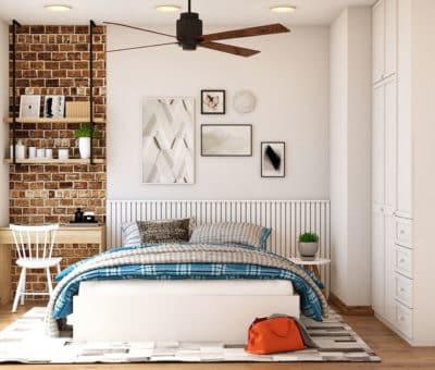 Ako zariadiť hosťovskú izbu, aby bola ako z katalógu, interier, Menšia, no kvalitná posteľ