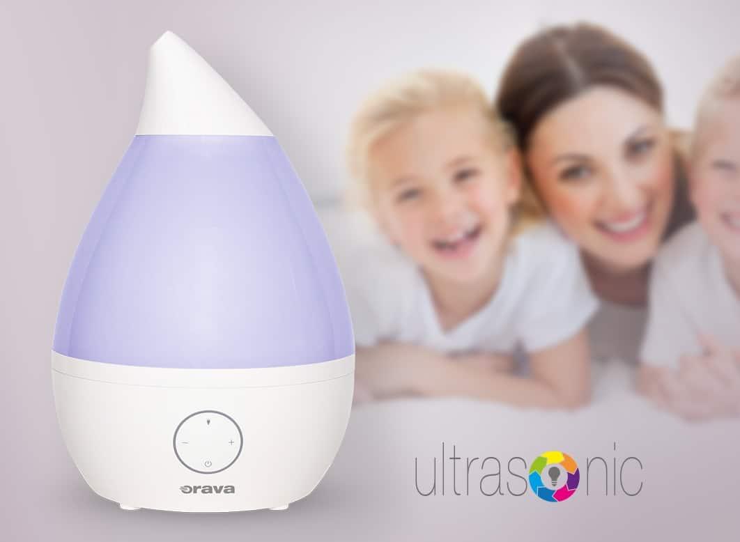 Kvalitný zvlhčovač vzduchu vytvorí u vás optimálne podmienky pre zdravší domov, Orava HUM42, Orava
