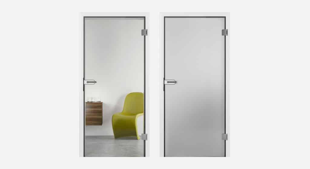 Interierove dvere HORMANN GLASSLINE Duradecor v bielej farbe RAL 9016