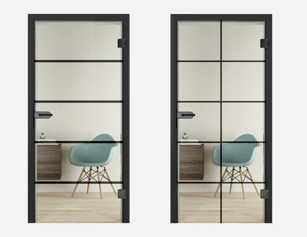 Moderné deliace sklenené steny ako aj exkluzívne Loft dvere z ocele, sklenene interierove dvere