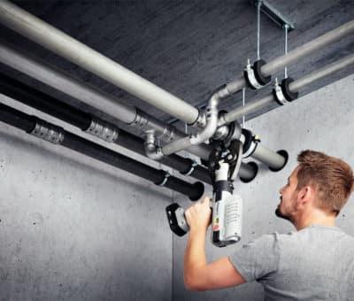 Porovnanie rýchlostí rôznych metód spájania a inštalácie oceľového potrubia, Viega