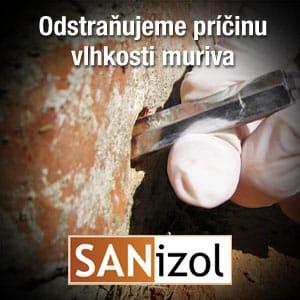 Sanizol, Odstraňujeme príčinu vlhkosti muriva