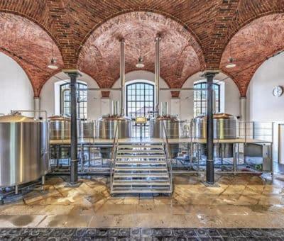 Hlavné varny kamenického pivovaru, nové rozvody pre Pivovar Kamenice