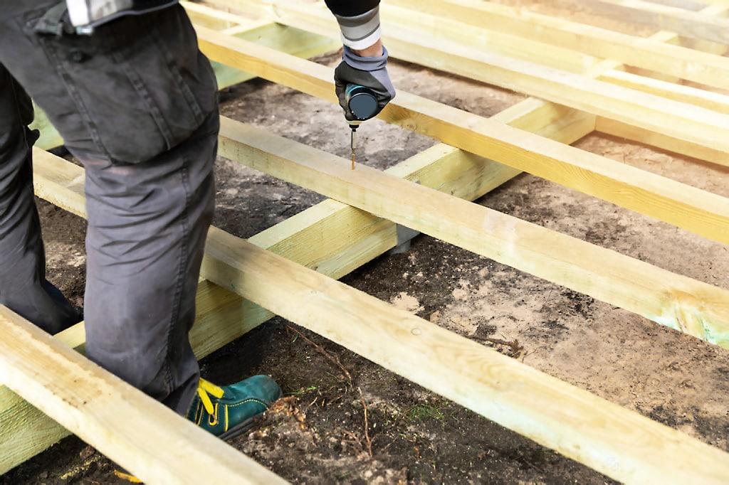 Staviame terasu, nosná konštrukcia, 2 časť, stavba, exterier, zahrada