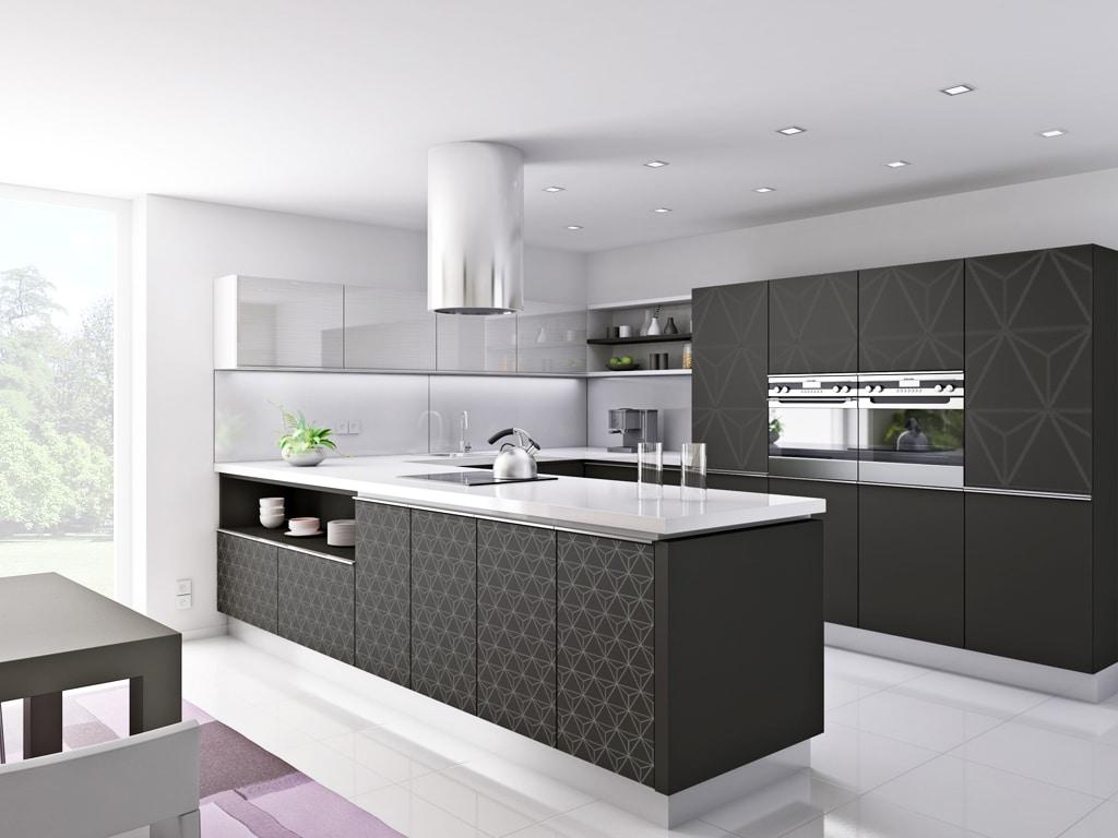 T acrylic cierny mat T overface motiv matrix, Trachea, interierový nábytok kuchyna a obyvacka
