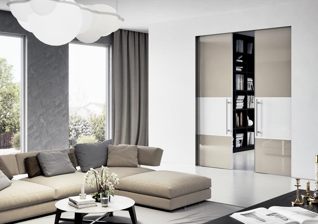dvere MASTER DOOR kombinacia lakovane sklo, stavebne puzdro AKTIVE, JAP Slovakia, interier dvere