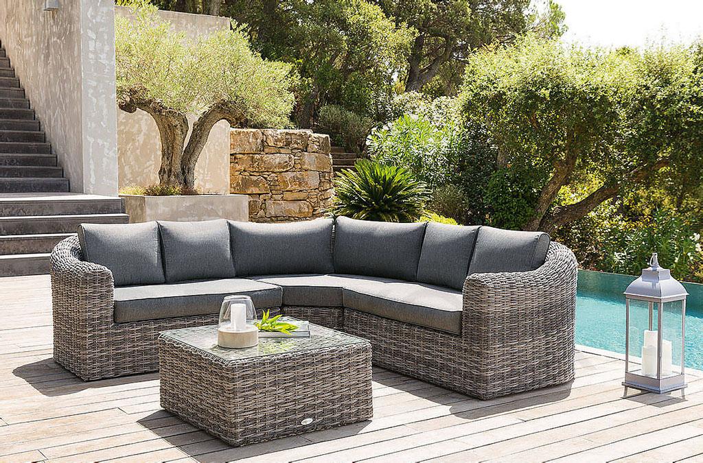 Modulová ratanová zostava BORNEO (sivá) - vlastná zostava, záhradný nábytok, exteriér, záhrada