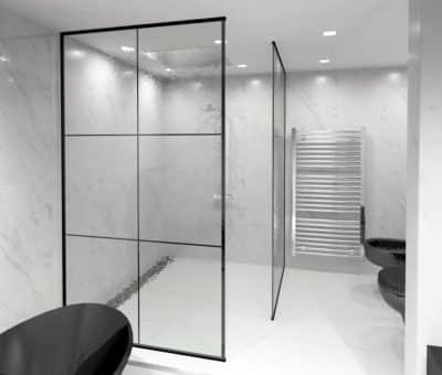 Stavte na moderný sklenený sprchový kút, kupelna, rekonstrukcia kupelne, Ingenio, interier
