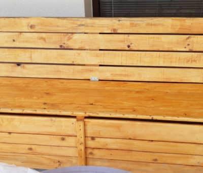 Záhradná drevená lavica s úložným priestorom, exteriér, záhrada, urob si sám
