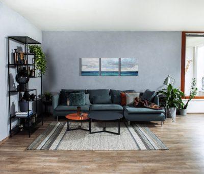 Dodajte šmrnc svojej obývačke v podobe betónovej stierky, interier stena stierkovanie, stierka Primalex betonovy efekt