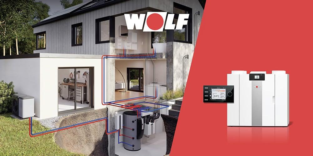 Jednoduchá kombinácia s vykurovacími systémami WOLF, zdravé bývanie, čistý vzduch
