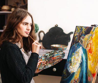 Maľovanie pre začiatočníkov: 3 jednoduché kroky, ako začať (maliarske potreby), Galeria AVE Bratislava, Atelier VIKI