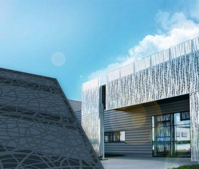 Dokonalý vizuálny efekt, dierovaný plech je čoraz populárnejší u architektov, Perfora, exterier