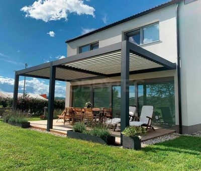 Bioklimatická pergola pre najvyšší komfort na terase, exterier, zahrada