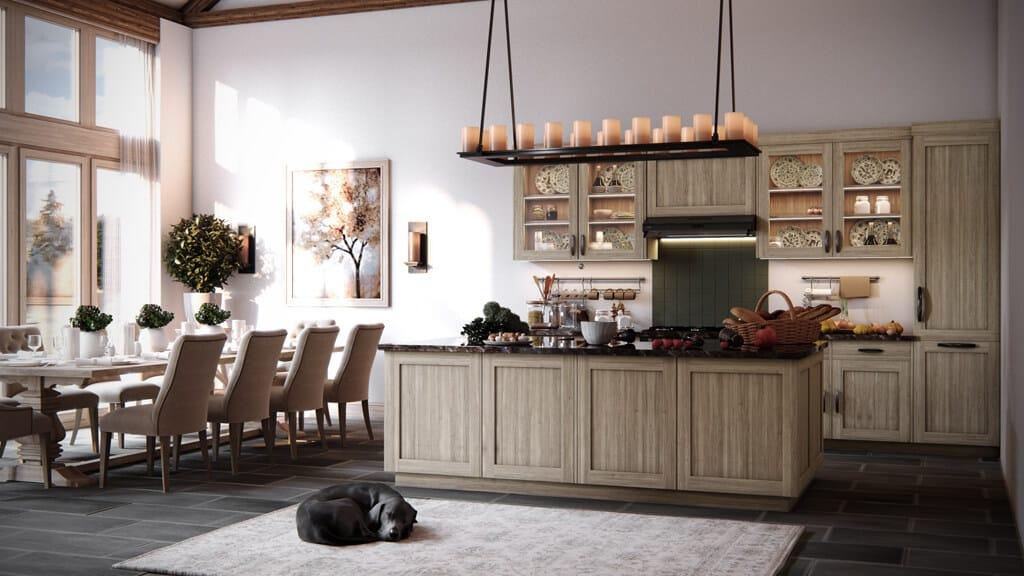 T segment skladane dvierka LTD lamino dub gladstone sedobezovy kuchyne TRACHEA, Odolné lamino