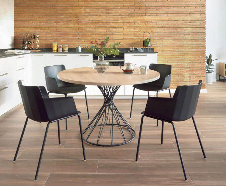 TOP 3: Okrúhle jedálenské stoly, ktoré by sa mohli hodiť do vašej kuchyne, okruhly stol, interier, kuchyna